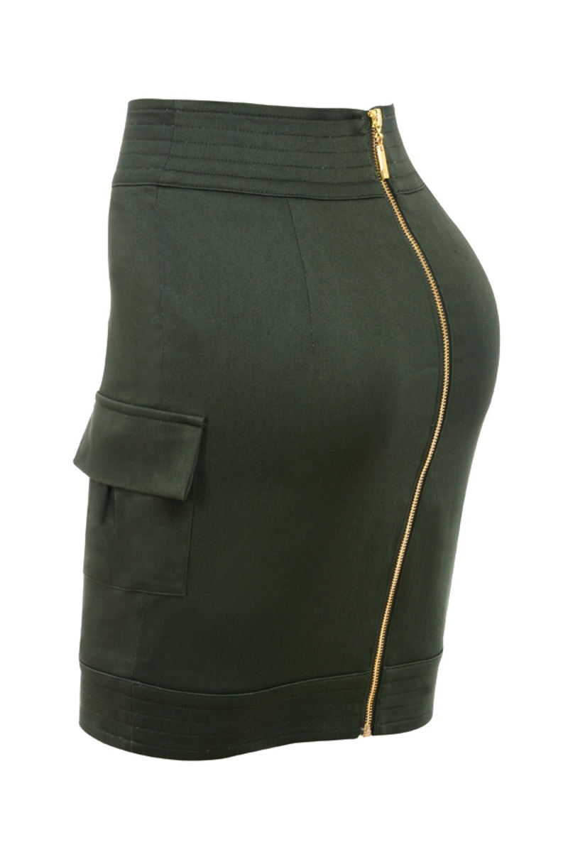 the action skirt in khaki