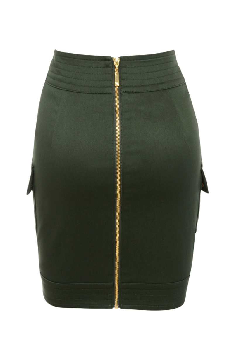 action skirt in khaki