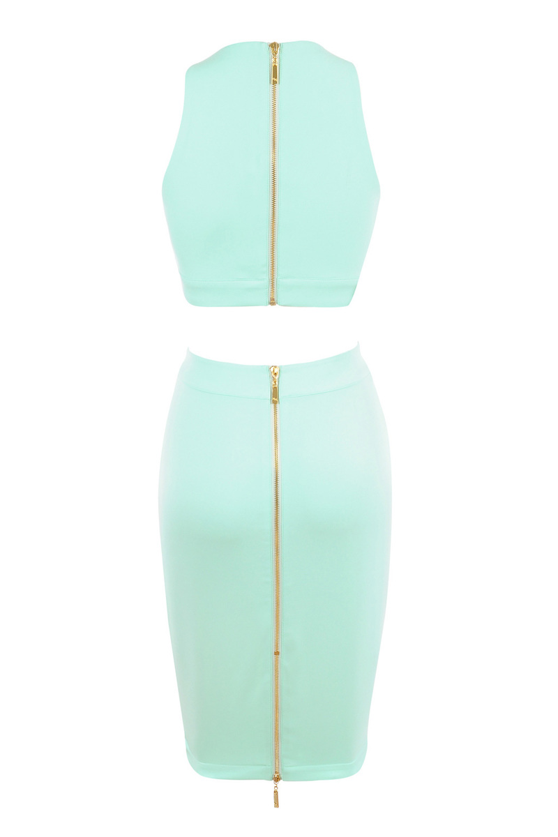 mint two piece dress