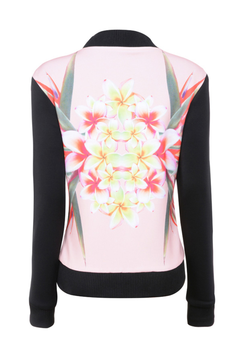 flowerbomb jacket in floral prints