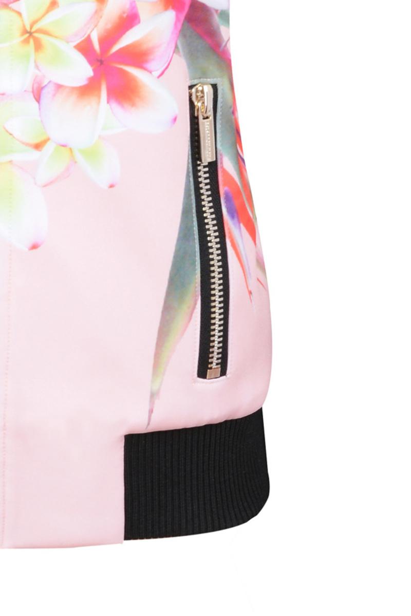 bomber jacket in floral prints