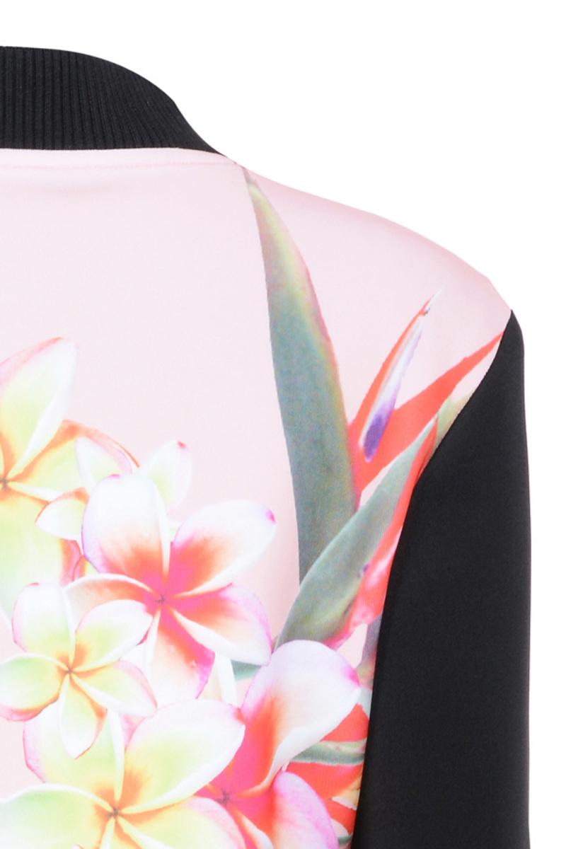 floral print flowerbomb jacket