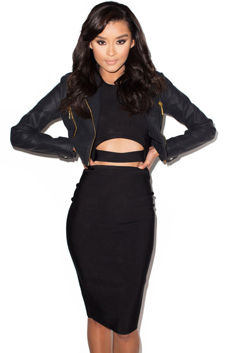 the lets ride moto jacket in black