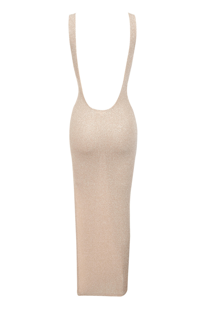 luxelife nude maxi dress
