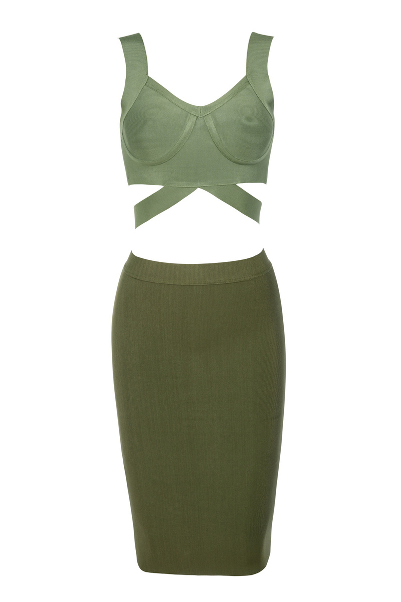 the marni bandage dress in khaki