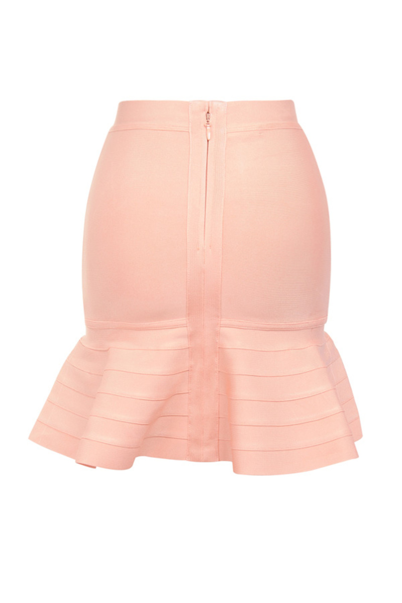 mira skirt in peach