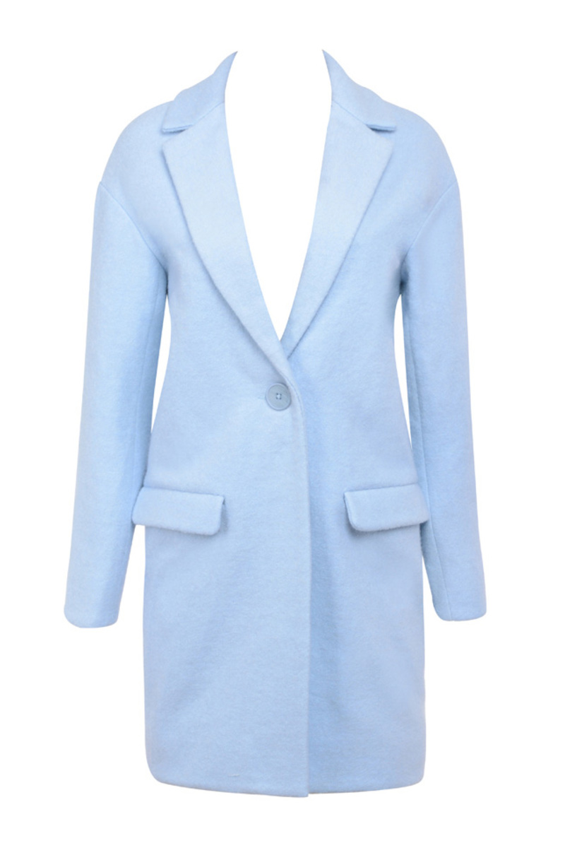 the mishka wool coat in blue