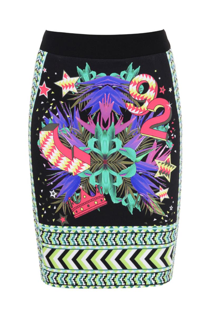 skirt in multicolour