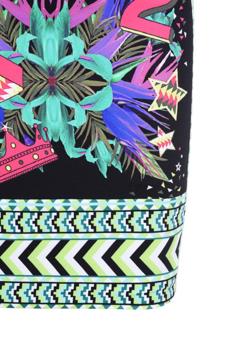 static skirt in multicolor