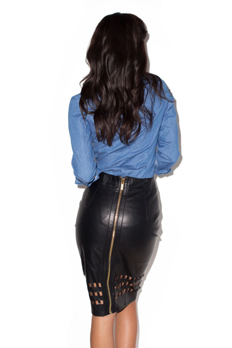 voyeur skirt in black