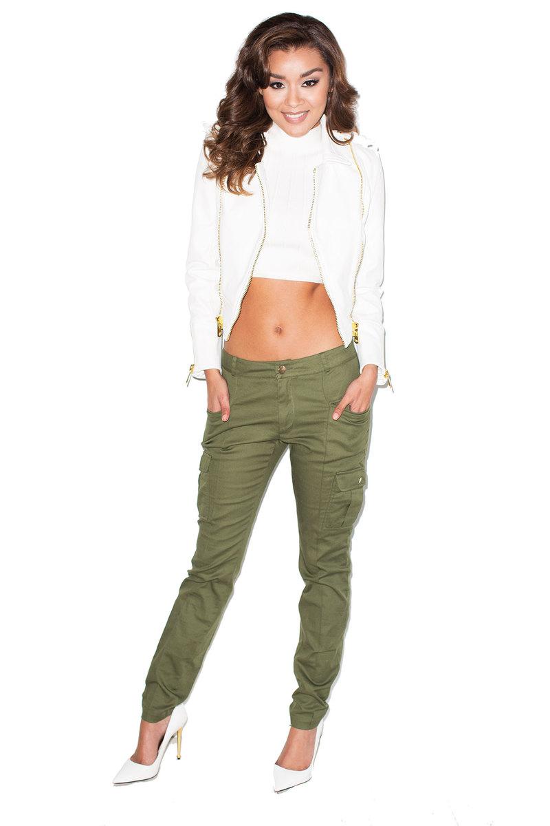 Ammo Khaki Skinny Fit Cargo Pants