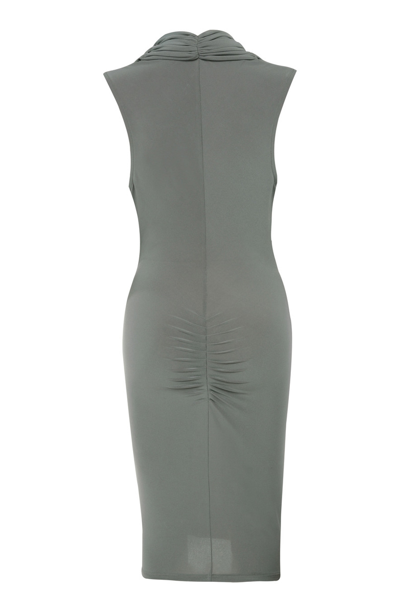 the on the down low dress in grey