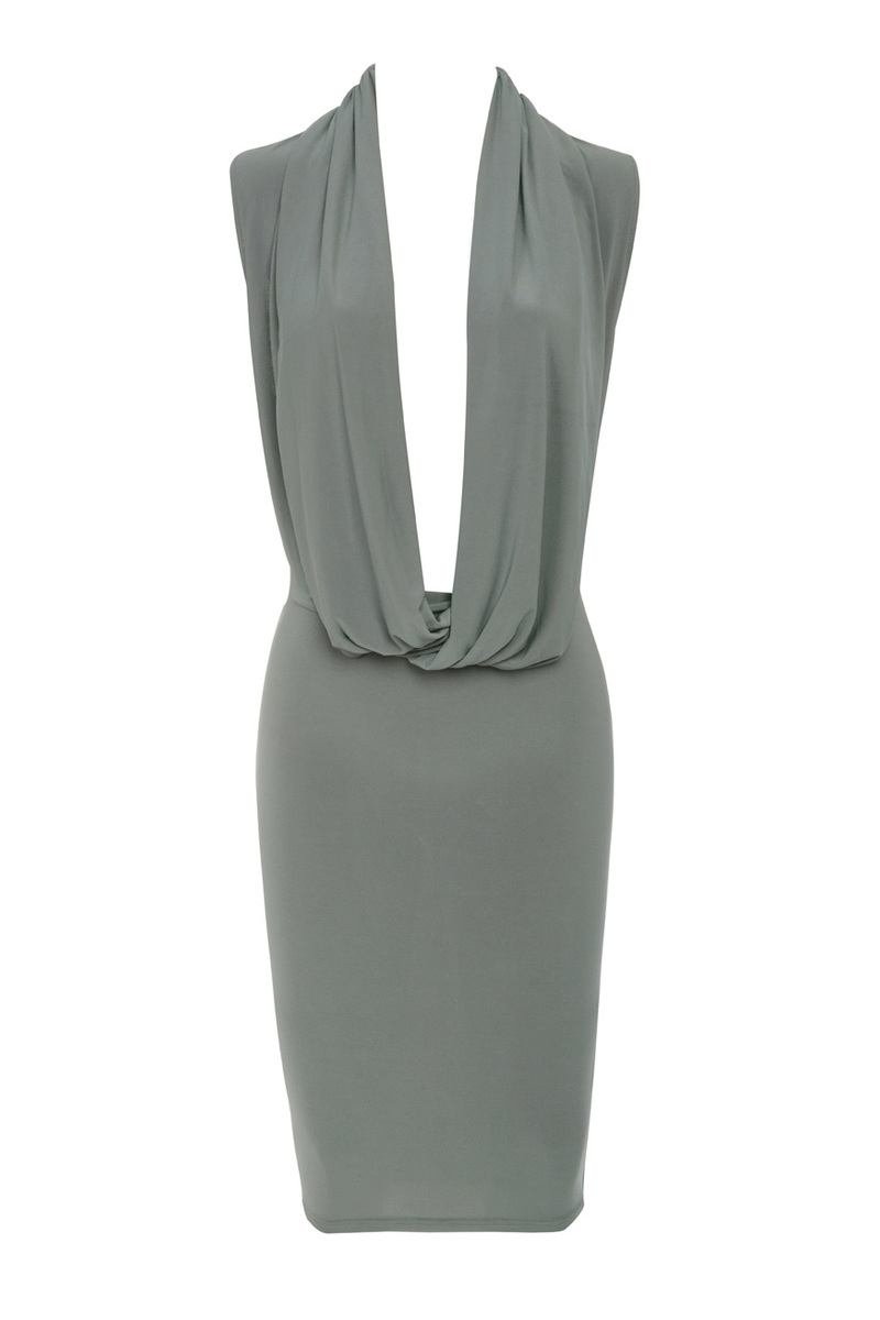 bodycon dress in grey