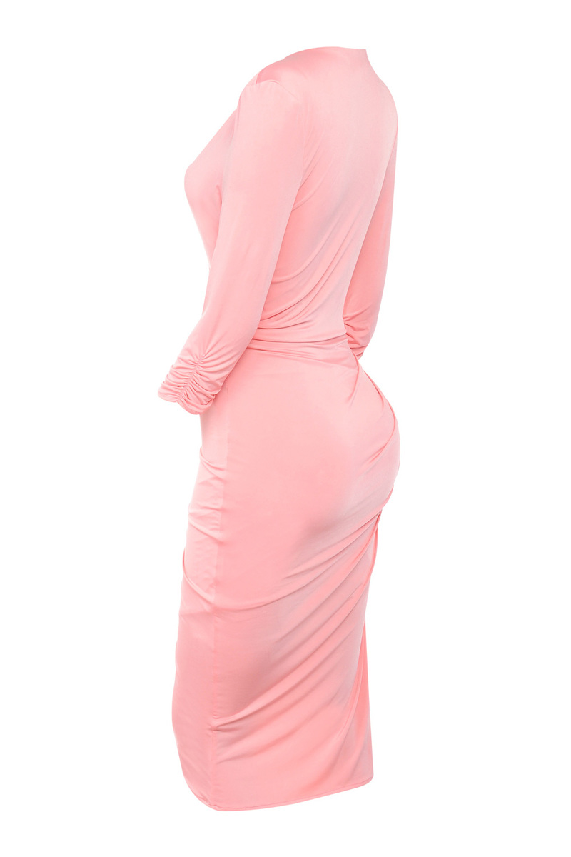 the 'Draped All Over' Pink Bodycon Dress