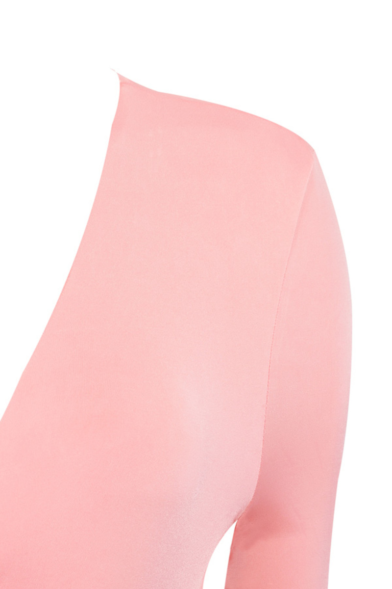 Draped All Over Pink Bodycon