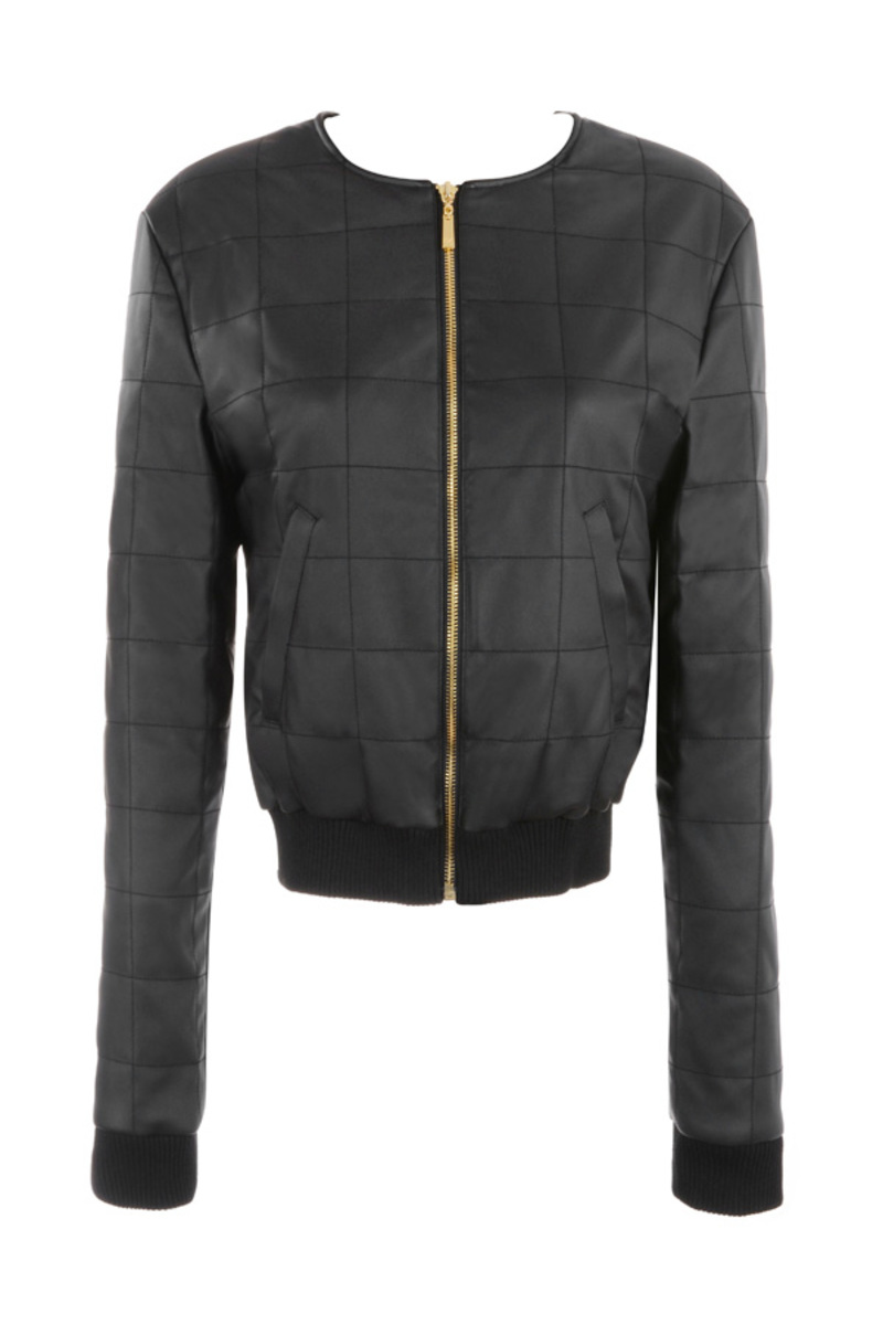 first base black bomber jacket