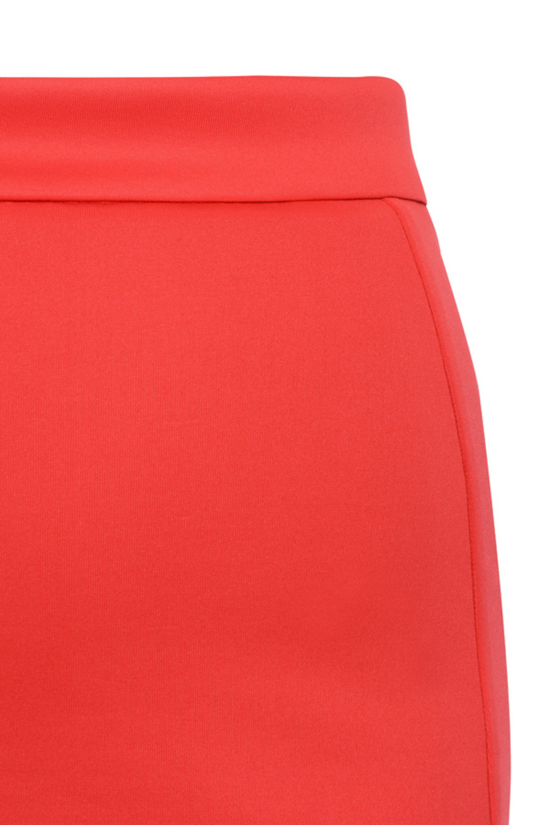 pencil skirt in red