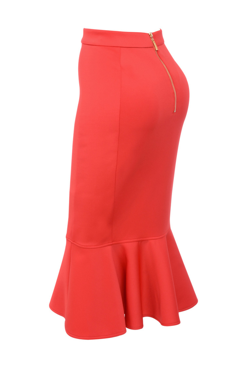 the laila skirt in red