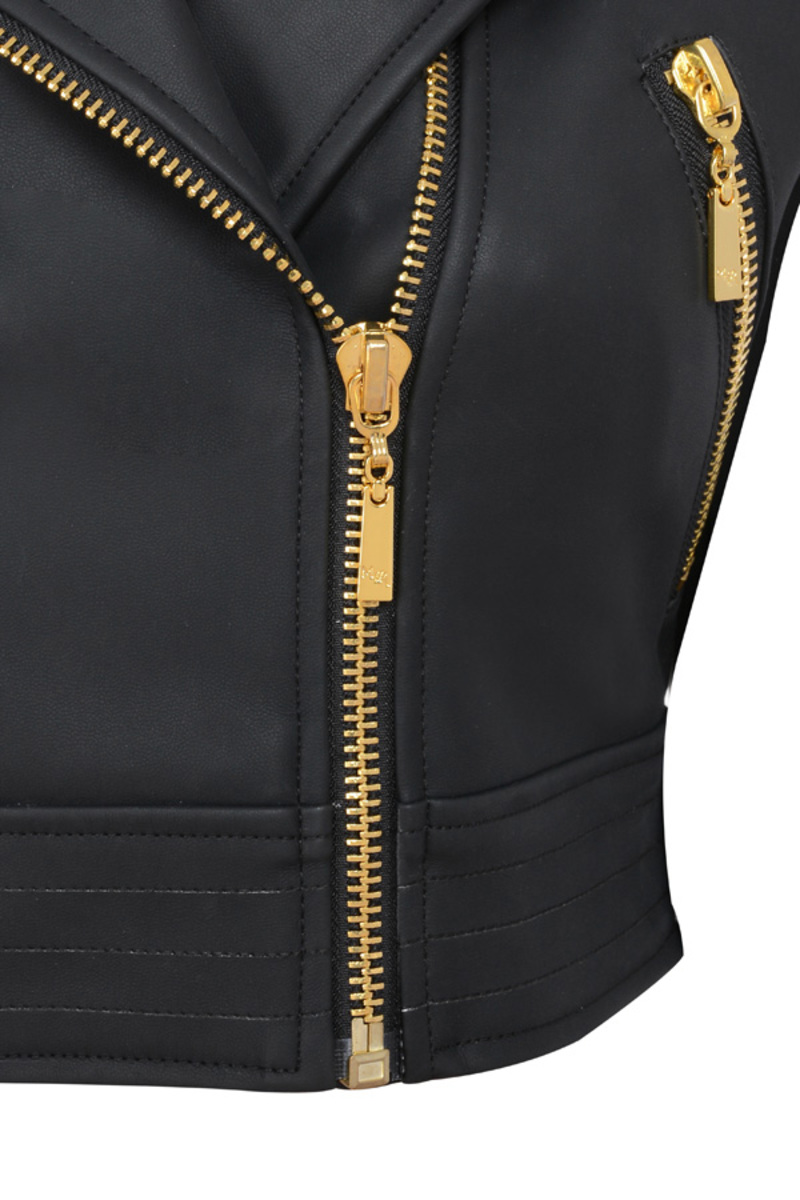 the lets ride jacket in black