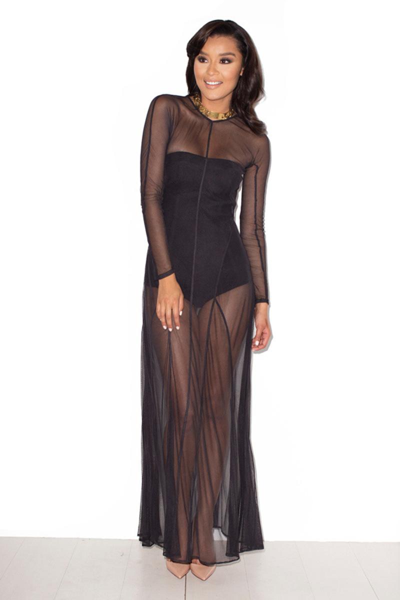 black miss mesh dress