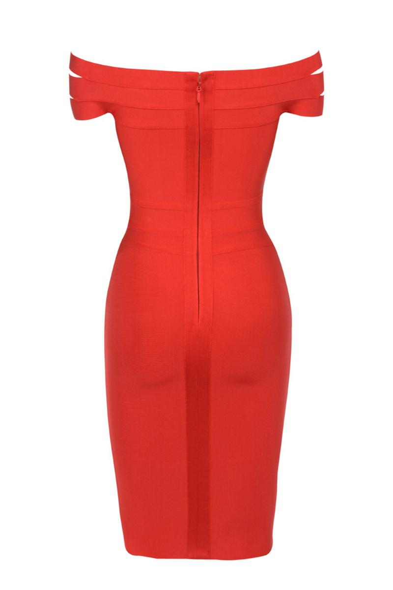 the scarlett dress in red