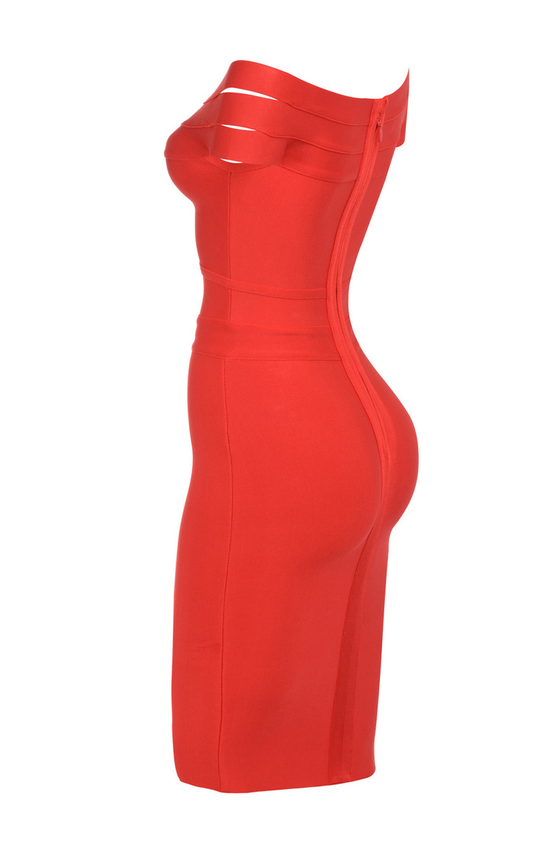 bandage dress in red