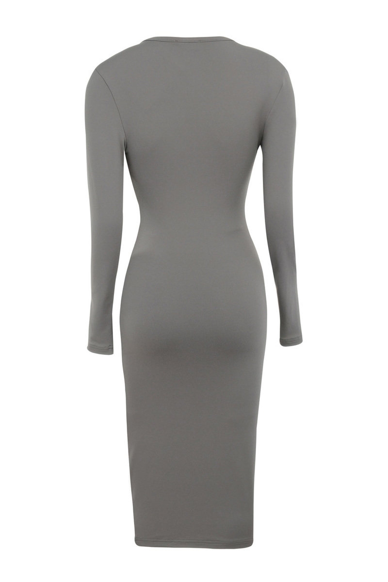 sky high dress in taupe