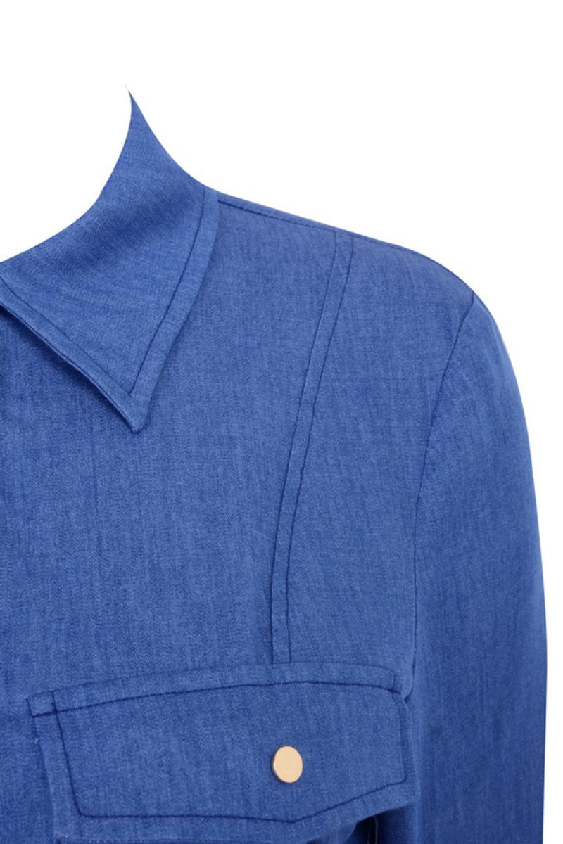 tomboy in blue