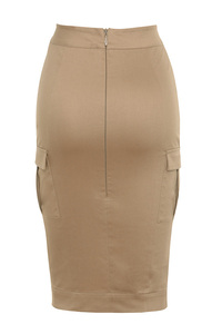 vibes skirt in brown