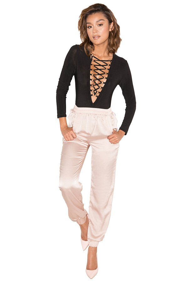 Holla Blush Silky Trousers