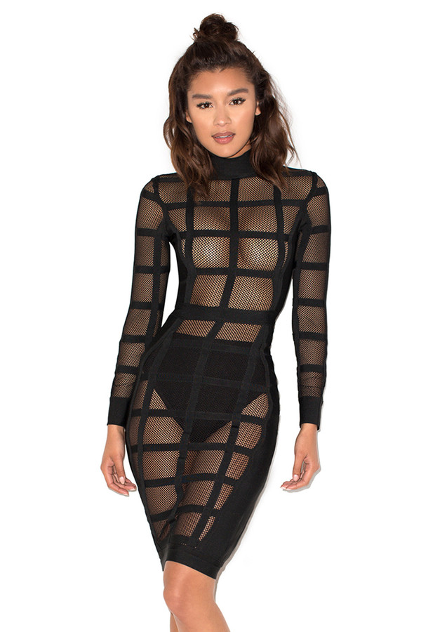 Oh My Bandage and Sheer Mesh Dress