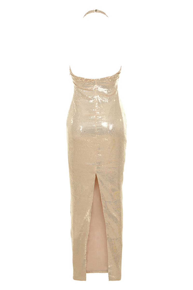 after party dress in nude