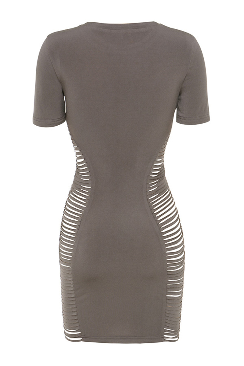 all of the lights dress in mocha