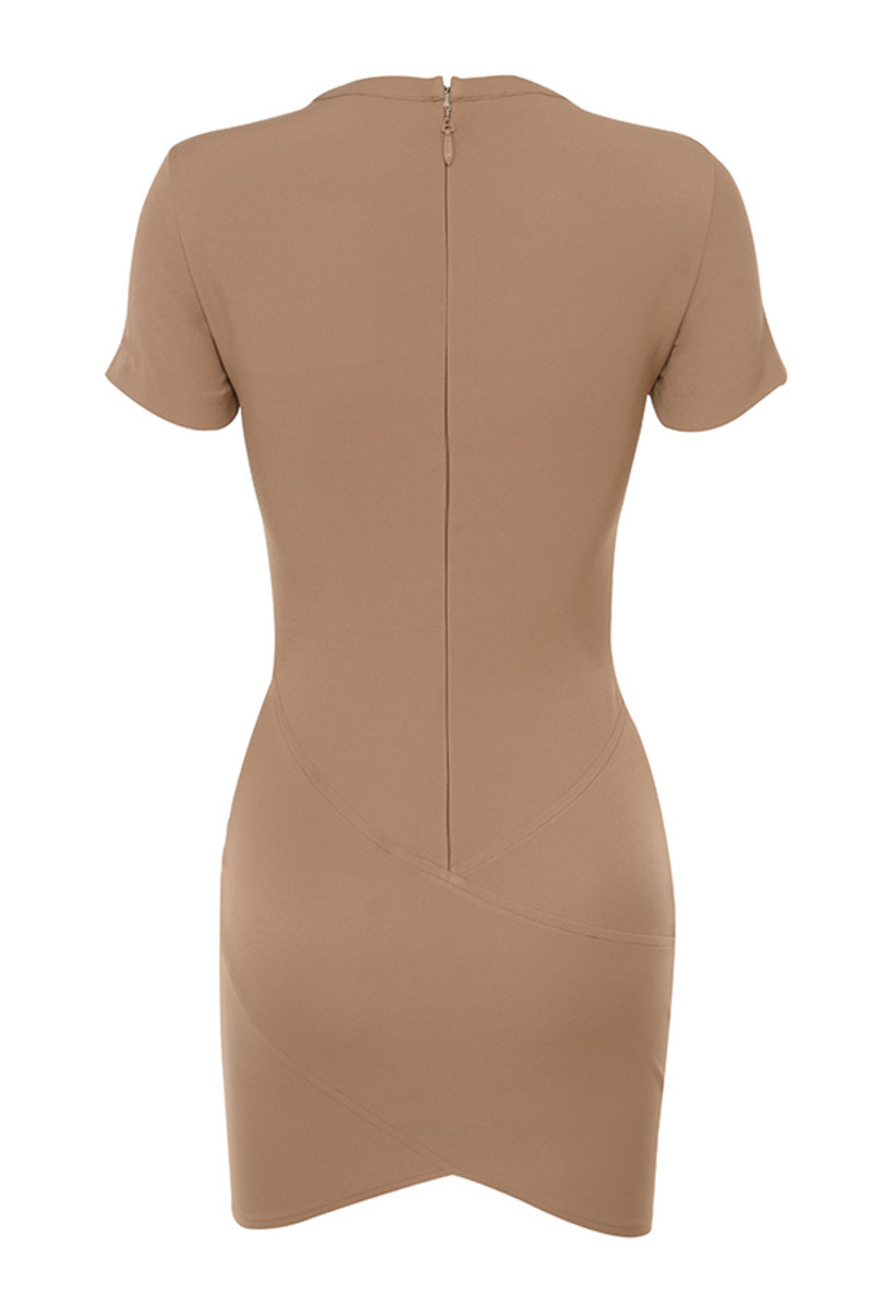 clique dress in brown