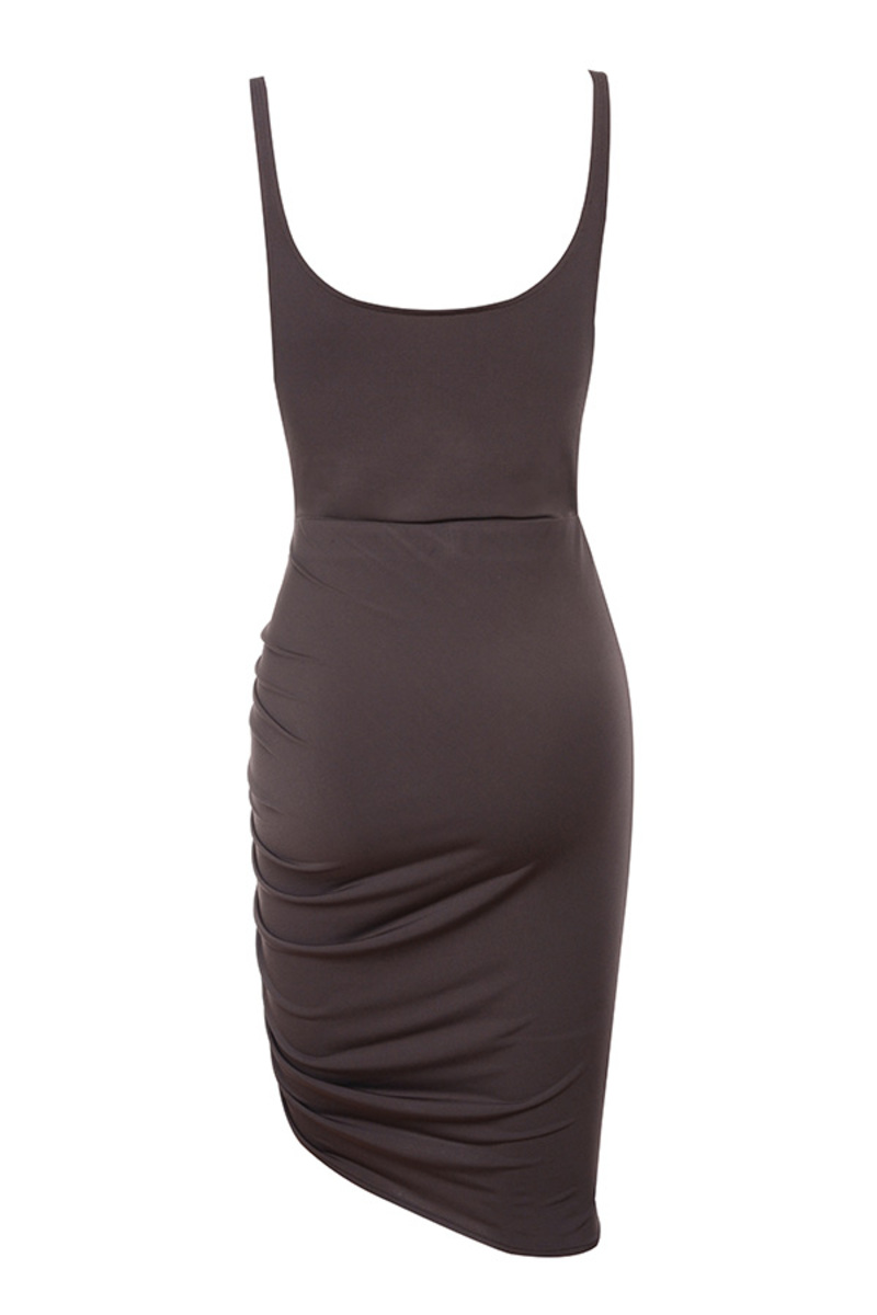 diavolo dress in brown