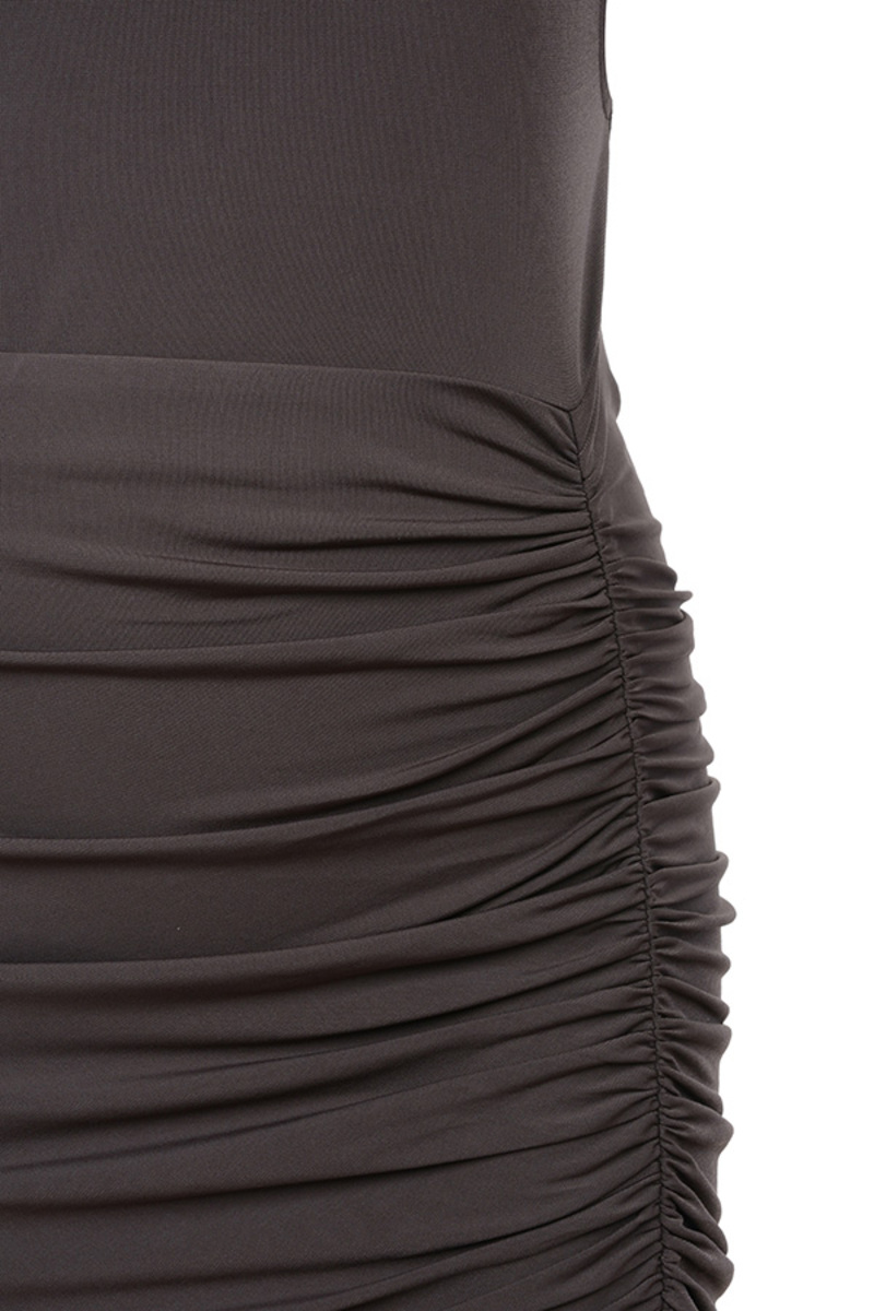 brown diavolo dress