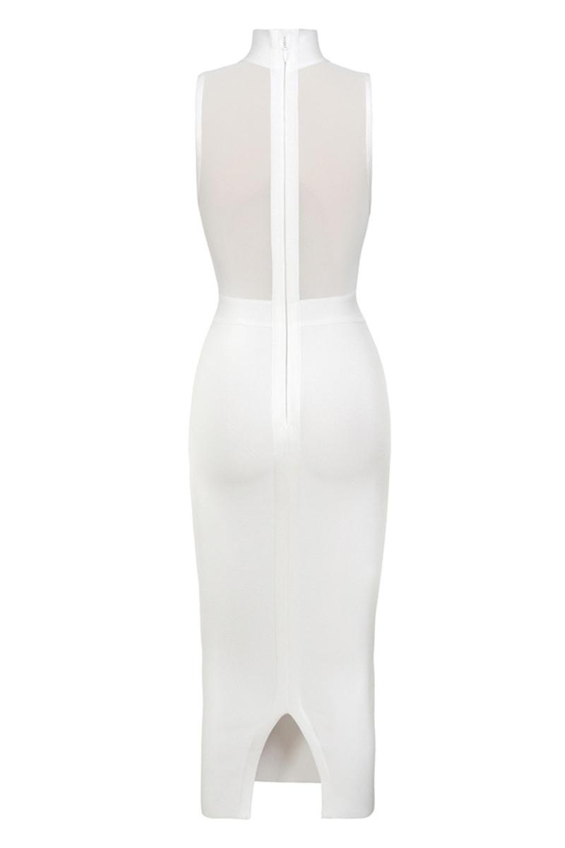 femme fatale in white