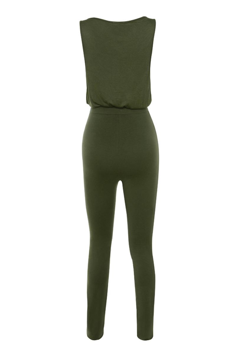 go getter jumpsuit in khaki
