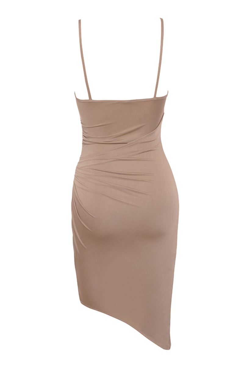 karma dress in taupe