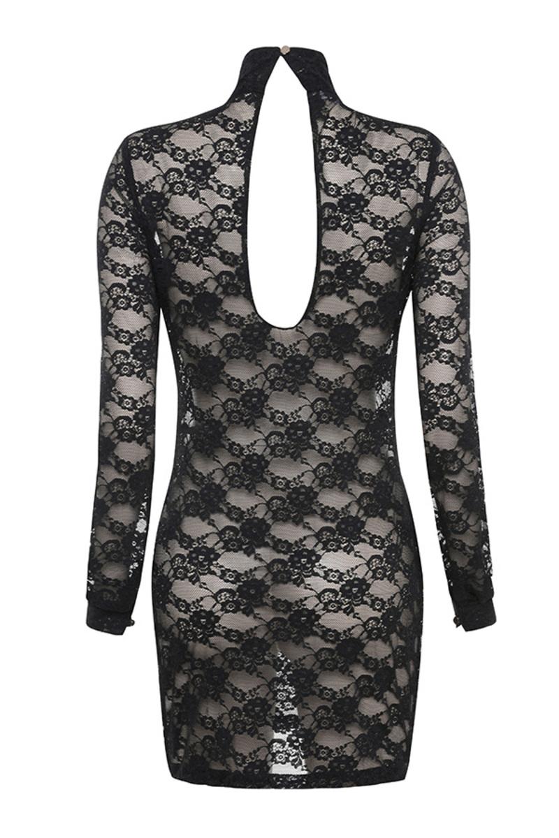 lady luck dress in black