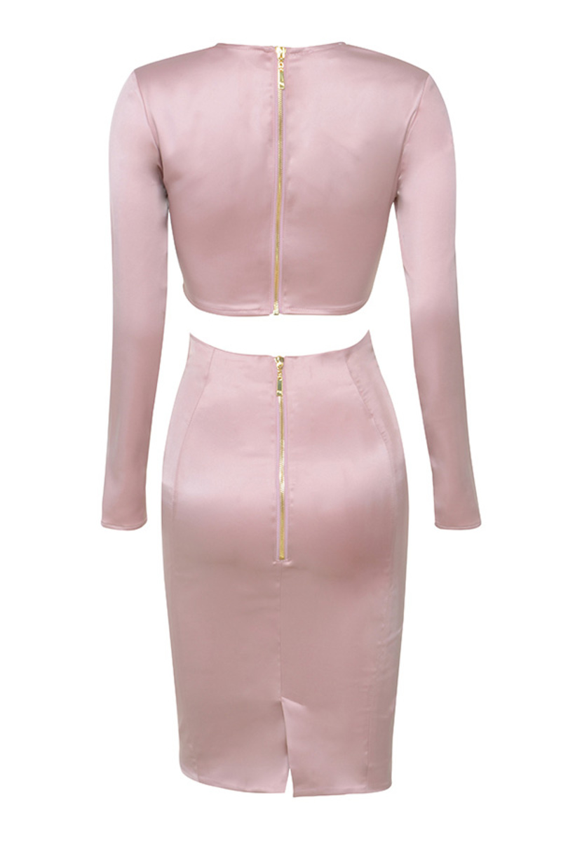lady millionaire 2 piece in pink