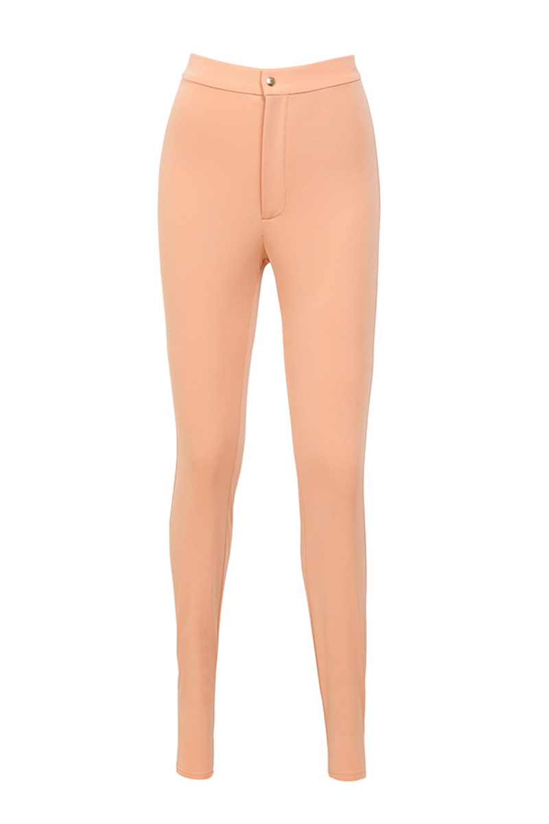 right now peach leggings