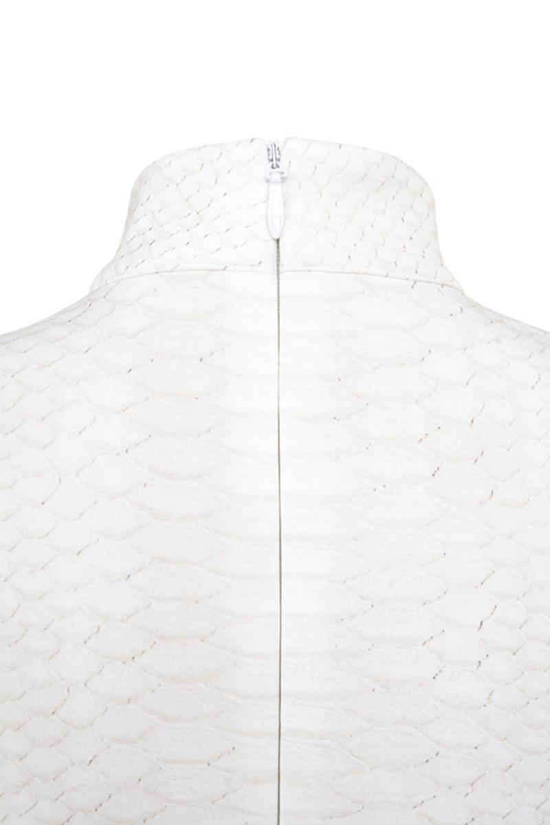 ivory snakebite dress