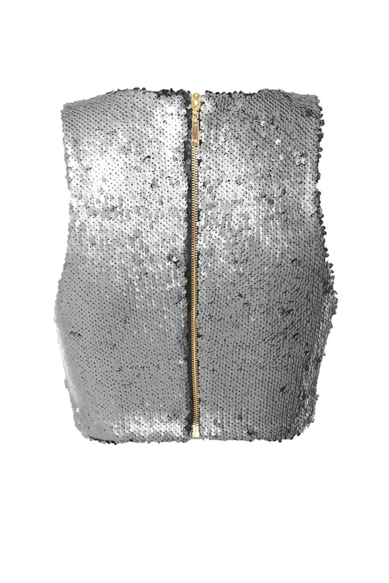 stardust top in silver
