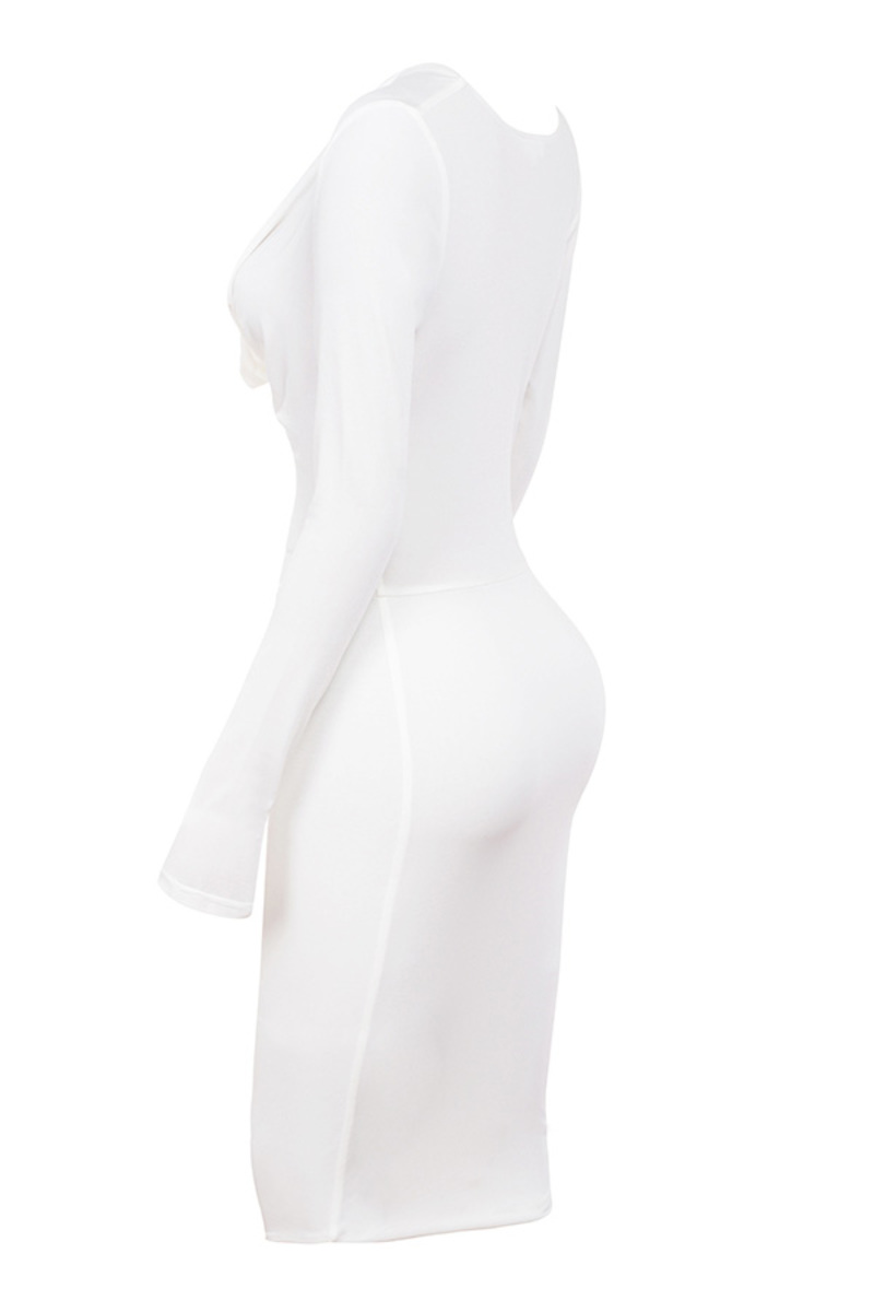 tease bodycon in white