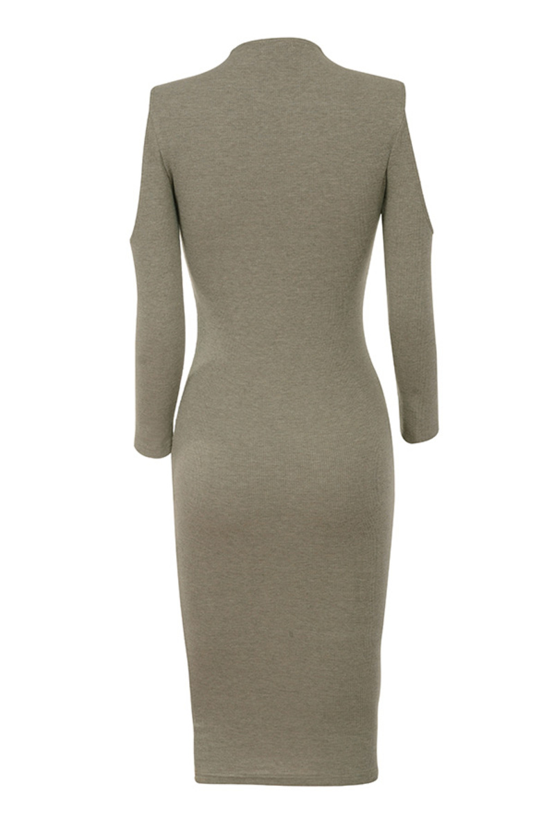 too hot dress in taupe