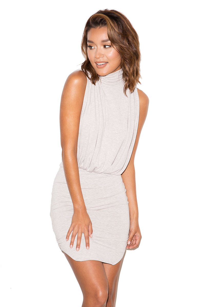 Bewitched Grey Draped Jersey Dress