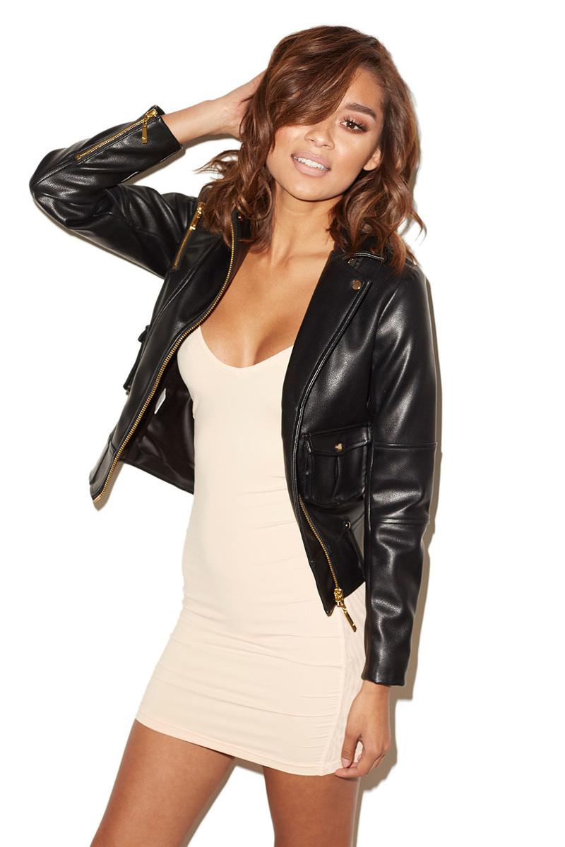 Drive Black Vegan Leather Biker Jacket