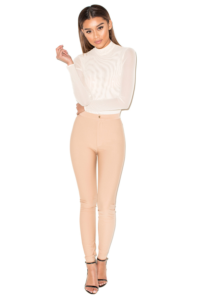 Runway Nude Neoprene Jersey Leggings