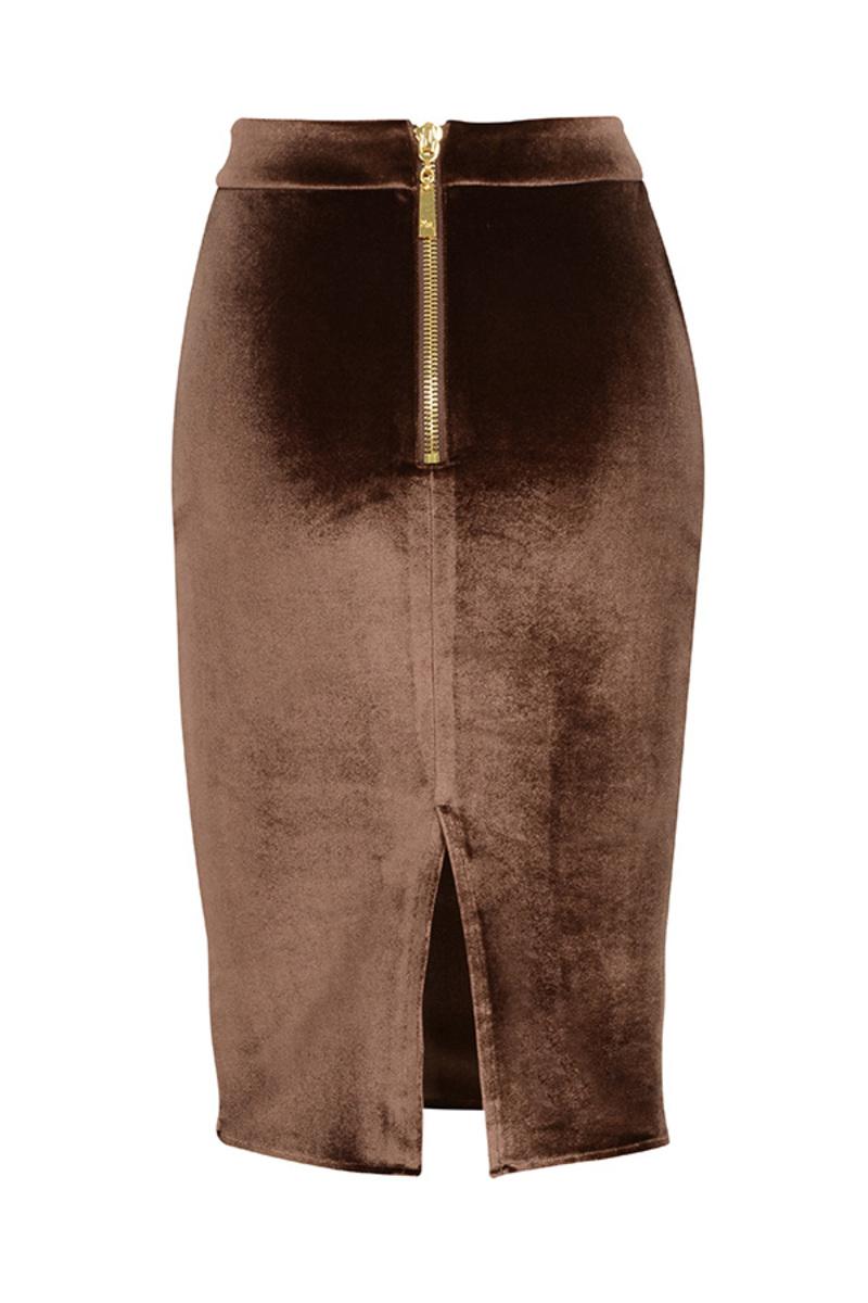seduce skirt in brown